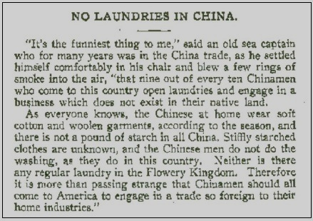 no china laundries