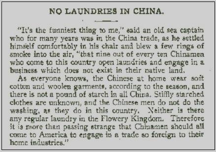 no china laundries