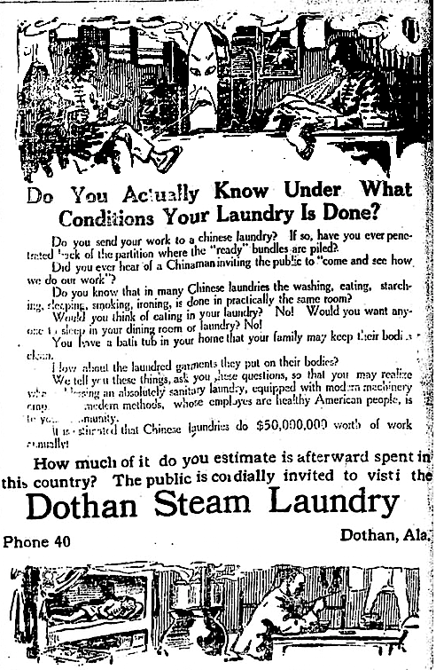1915 dothan ala steam ldy ad April 30