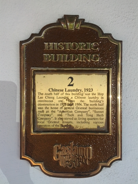 Chinese Laundry, 1923 Marker