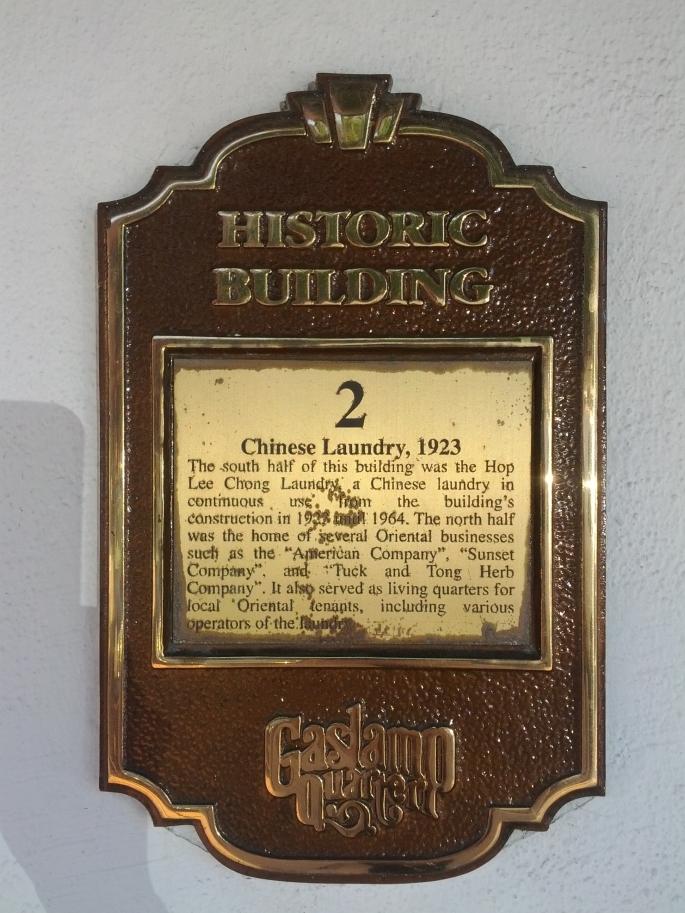 Chinese Laundry, 1923 Marker
