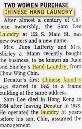 white women buy CHinese laundry 1962