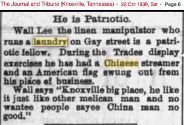 1889 wah lee of gay st knox very patriotic flying flag.png